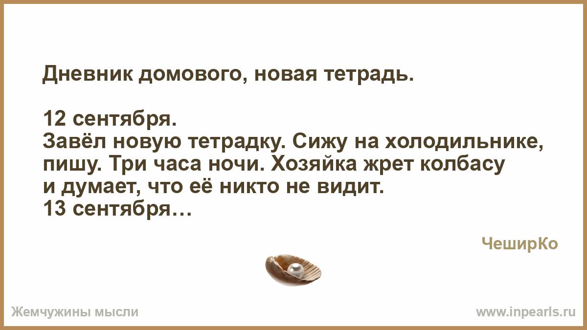 Дневник домовой анекдоты